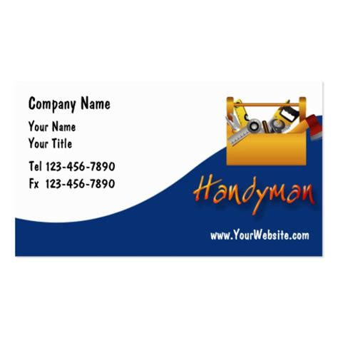 business cards templates for handyman free handyman business cards search engine at search