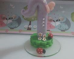 vela decorada jardim encantado bolo falso tema jardim encantado elo7