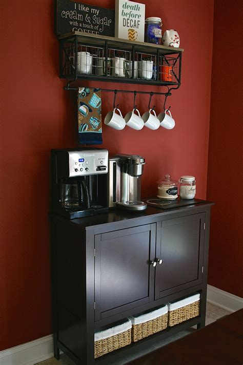 oregon transplant home decor coffee bar