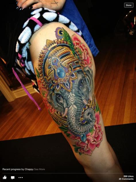 asian elephant tattoo elephant inkkkkkk colorful tattoos