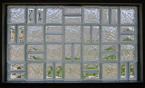 Word Blocks Home Decor by Enhance Your Glass Block Window By Mixing Different Sizes