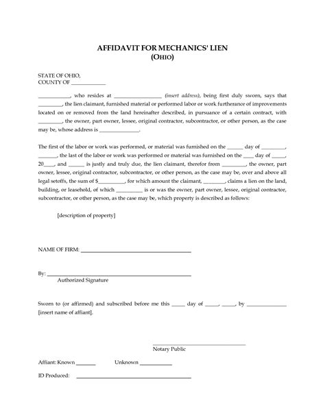 free affidavit template uk 28 images affidavit