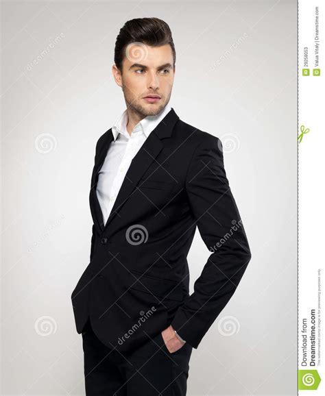 in suit fashion businessman in black suit stock photos image 29258053