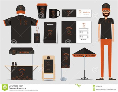 coffee shop uniform design concept for coffee shop and restaurant identity mock up