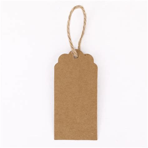 Card Gift Tags - mini gift tags hang cards brown blank recycled paper labels 100 pcs string ebay