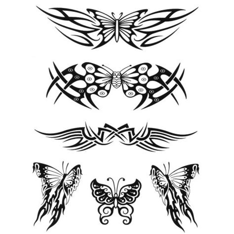 tribal butterfly tattoos on back butterfly tattoos