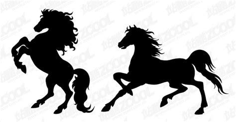 imagenes vectores caballos caballo silueta vector material 2 descarga gratuita de