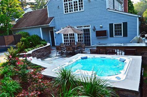 Landscape Ideas Nj Swimming Pool Landscaping Ideas Bergen County Northern Nj
