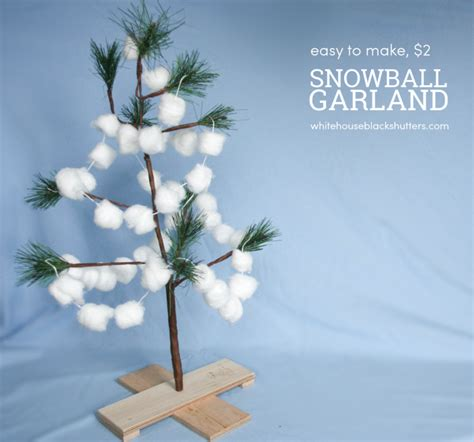 Home Decor Sewing Projects diy snowball christmas garland whitehouseblackshutters com