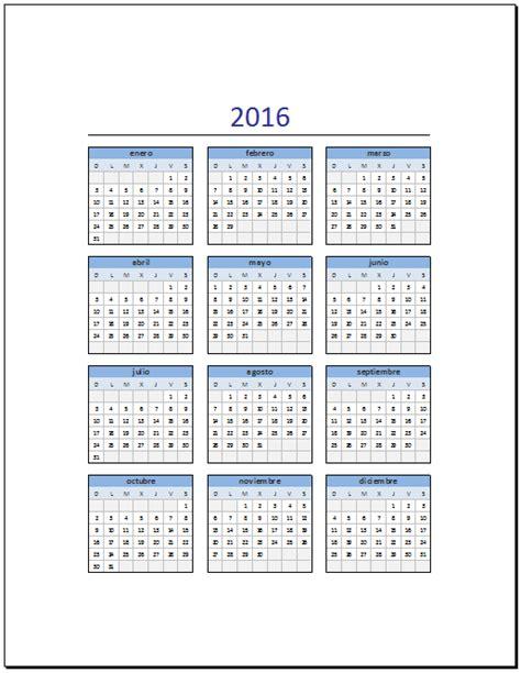 printable calendar vertex 2016 calendario vertex 2016 espanol calendar template 2016