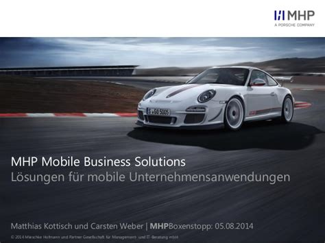 Mhp Porsche by Mhp Mobile Business Solutions