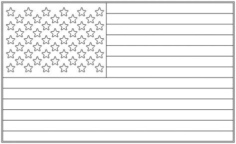 united states of america flag coloring page kids