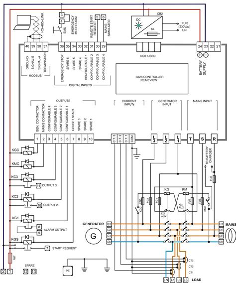 3 phase wiring diagram for emergency stop switch strobe
