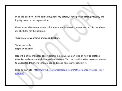 office manager cover letter office manager cover letter 1520
