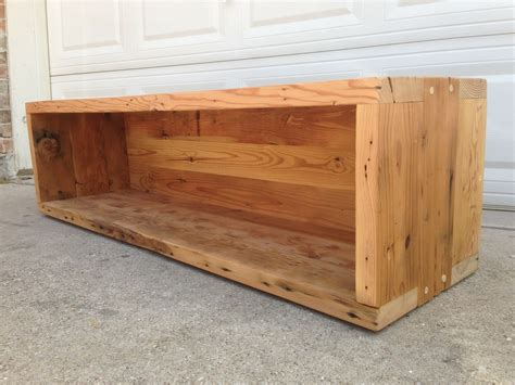 custom made bench hand made reclaimed storage bench by callum east design