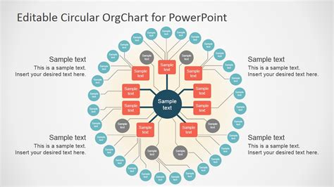 power point org chart template editable circular org chart slidemodel
