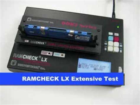 memory ram tester ddr3 ddr2 memory tester ramcheck lx