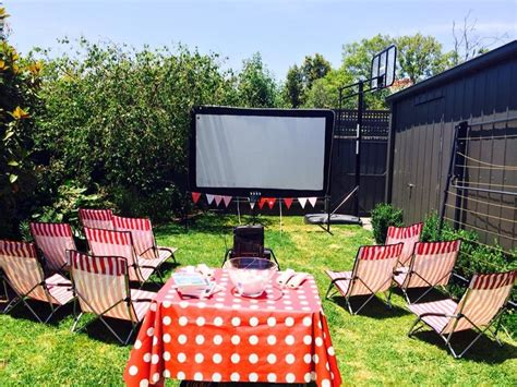 backyard movie night rental outdoor furniture design and