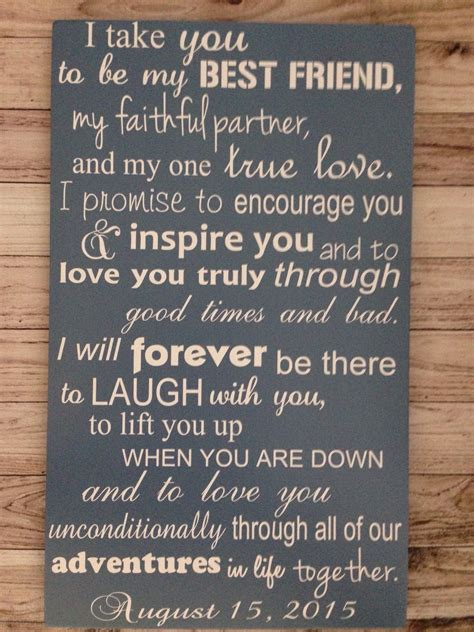 Wedding Vows For by Anniversary Gift Wedding Vows Sign 1st By Lilmissscrappy