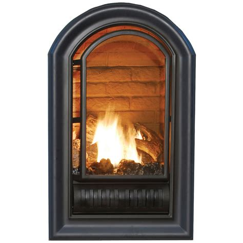procom gas fireplaces shop procom 29 quot vent free gas fireplace firebox at lowes