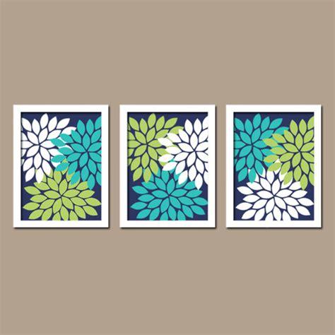 turquoise wall decor bedroom turquoise navy blue lime green custom colors flower burst