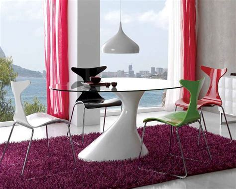 glass top esszimmer sets modern dining set w glass top table 33d441