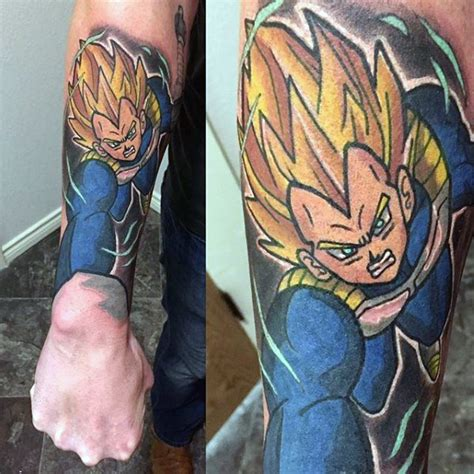 dragon ball z tattoo sleeve 40 vegeta designs for z ink ideas