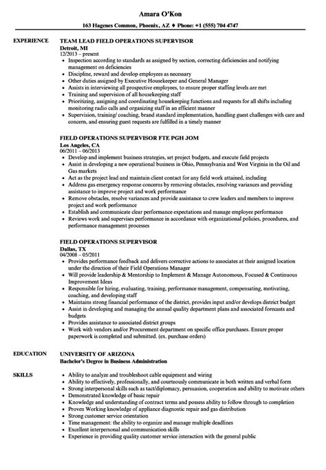 Cargo Supervisor Resume by Operations Supervisor Resume Tomyumtumweb