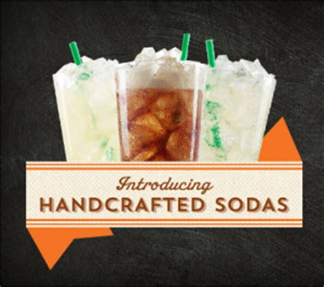 Handcrafted Soda - starbucks tests the brand extension waters with soft