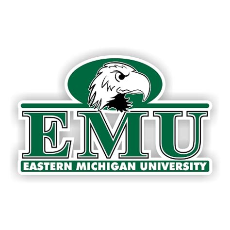 Eastern Michigan Mba Reviews by Eastern Michigan Eagles F Die Cut Decal 4 Sizes