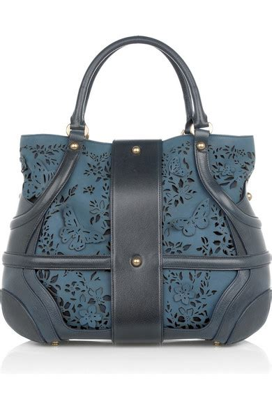 Mcqueens Floral Leather Novak by Mcqueen Floral Leather Novak Bag Net A