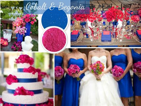 wedding color trends blue and pink royal blue and