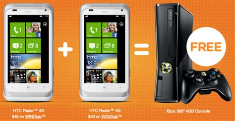 wind mobile devices wind offers up free xbox 360 when you buy 2 htc radar