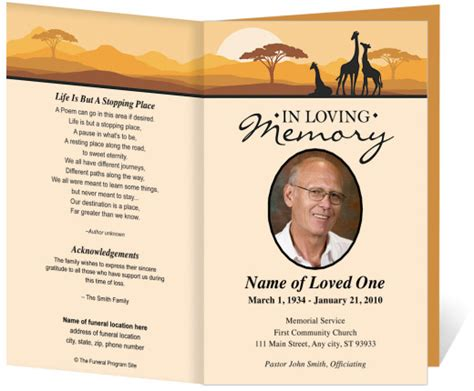 memorial card template card for funeral programs funeral programs templates
