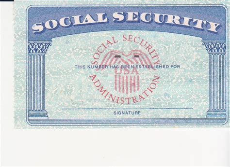 Blank Social Security Card Template by Social Security Card Ssc Blank Color Ssc Blank Social