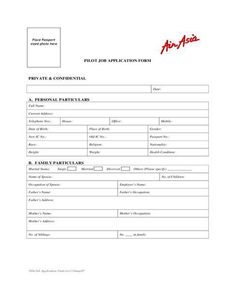 airasia eform airasia pilot job application form free download
