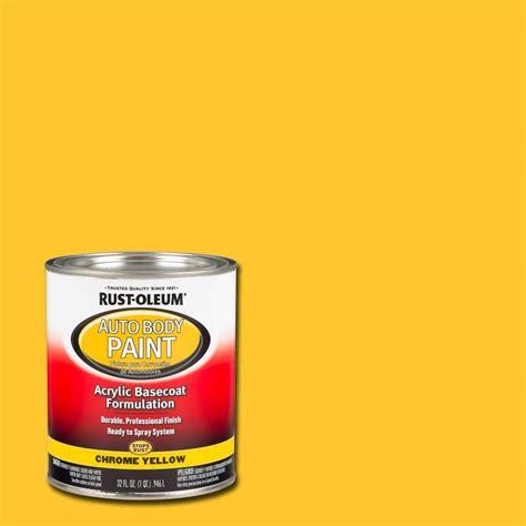 chrome yellow rust oleum automotive 1 qt chrome yellow auto body paint