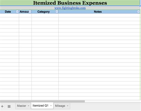 tax template for expenses business expense spreadsheet template free spreadsheet for
