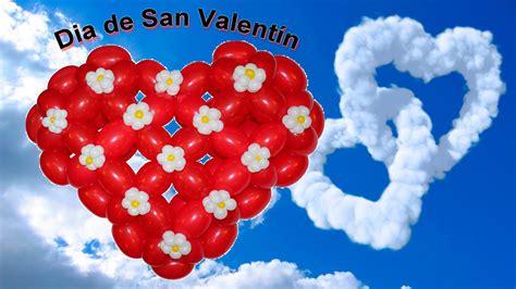 dia de san valentin corazon en globos detalle para el dia de san valentin 1 2