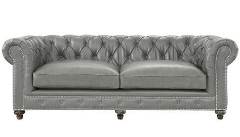 Tov Furniture Modern Durango Rustic Grey Leather Sofa Tov Grey Leather Chesterfield Sofa