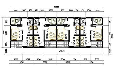 desain rumah petakan kontrakan hontoh