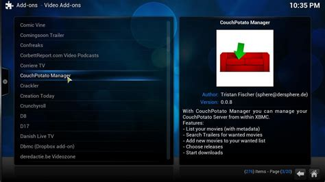 Xbmc Potato guide how to install kodi couchpotato manager addon