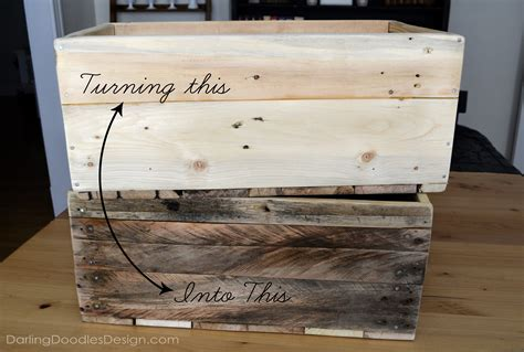 diy crate reclaimed pallet crates part 1 doodles