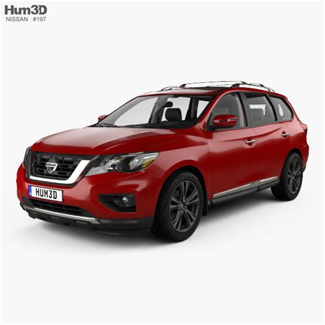 pathfinder nissan 2017 interior nissan pathfinder with hq interior 2017 3d model hum3d