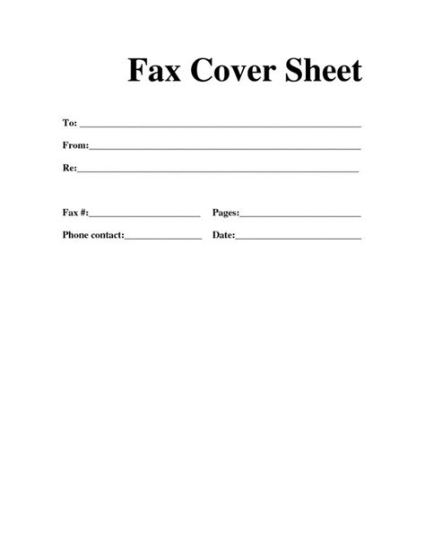 fax cover sheet printable fax cover sheet letter template