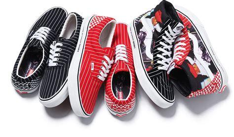 supreme x vans supreme x cdg x vans quot harold quot collection sneakerfiles