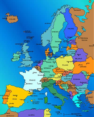 map of europe europe rocks world lectures for survey of world