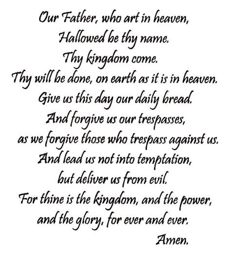 our father who art in heaven kjv