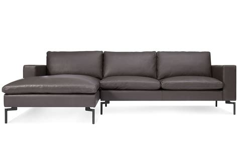 new standard leather sofa with chaise hivemodern