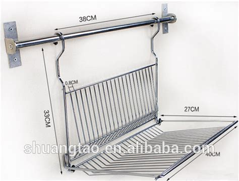 Wall Hang Dish Rack customized stainless steel wall mounting dish rack kitchen